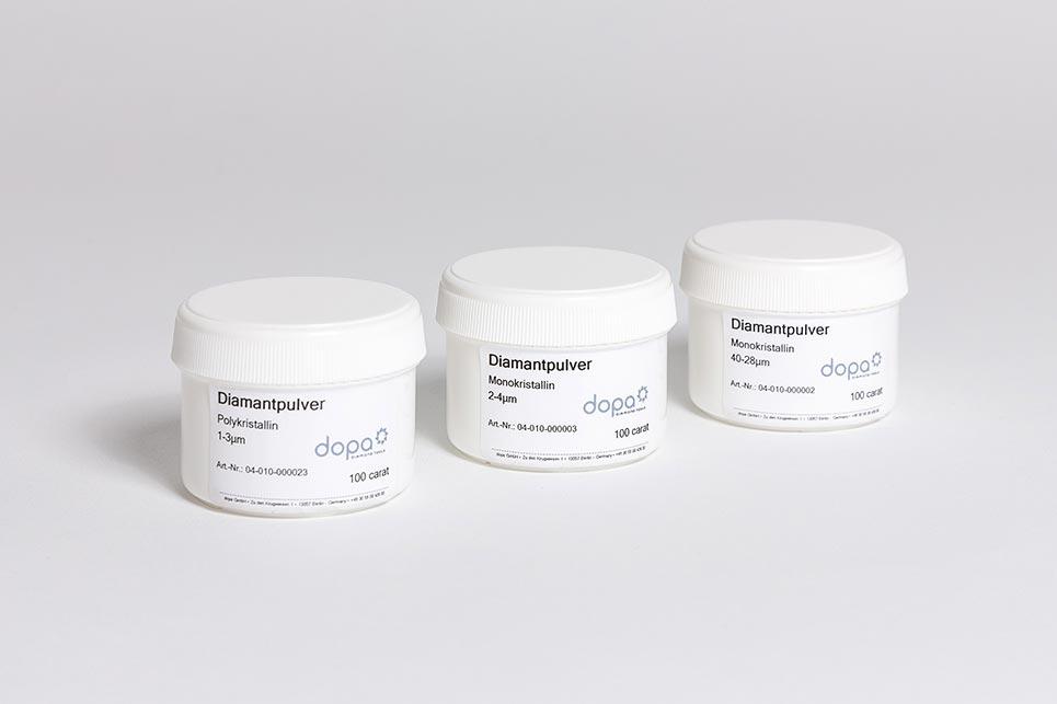 dopa Diamantpulver - Verpackungseinheiten